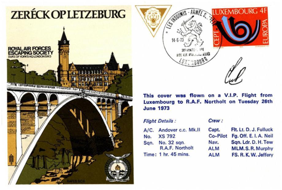 Zereck Op Letzeburg Pilot Signed Cover