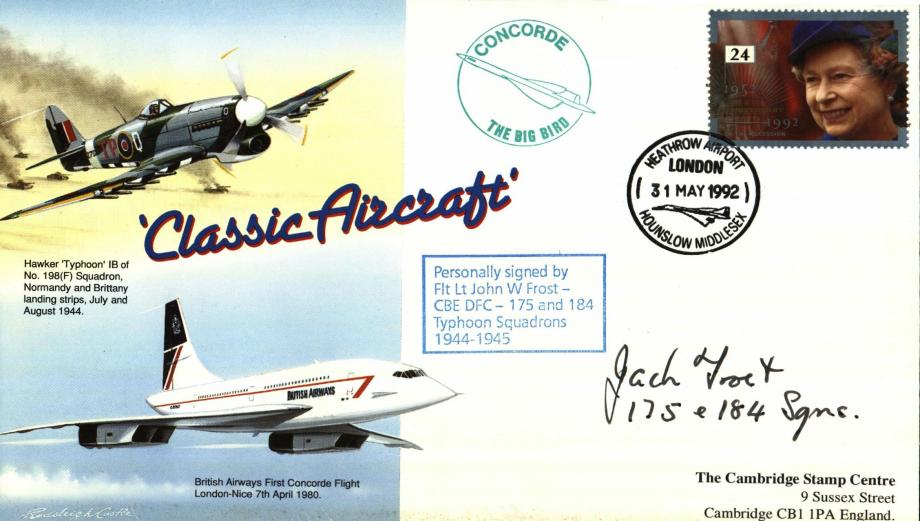 Typhoon cover Sgd John W Frost of 175 and 184 Sqs