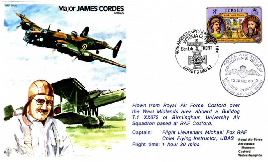 Major James Cordes the Test Pilot cover