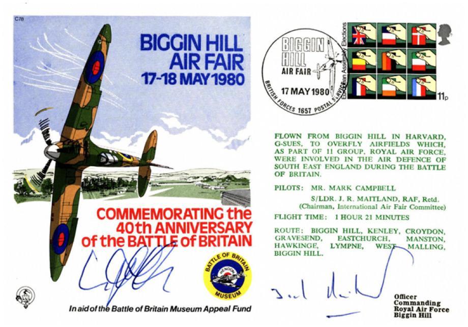 Biggin Hill Air Fair 1980 Cover Signed Crew