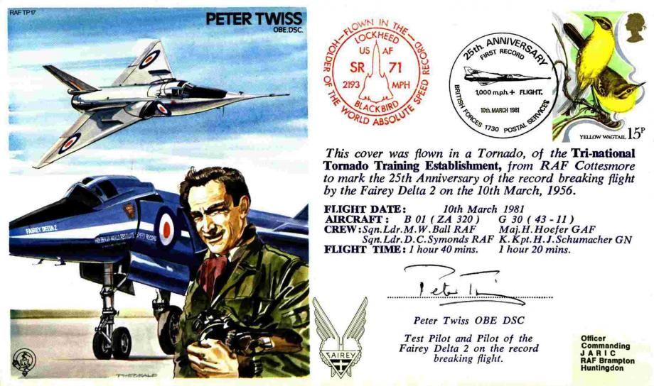 Peter Twiss the Test Pilot cover Sgd Peter Twiss