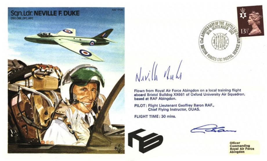 Neville Duke the Test Pilot cover Sgd Neville Duke and pilot