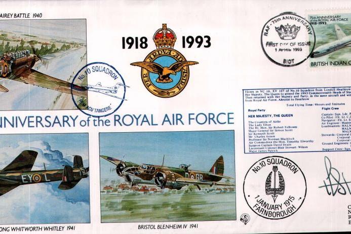 10 Squadron cover Sgd A F Stuart