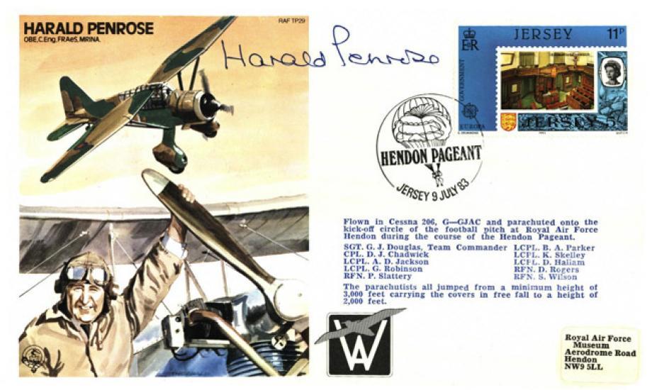 Harald Penrose the Test Pilot cover Sgd Harald Penrose