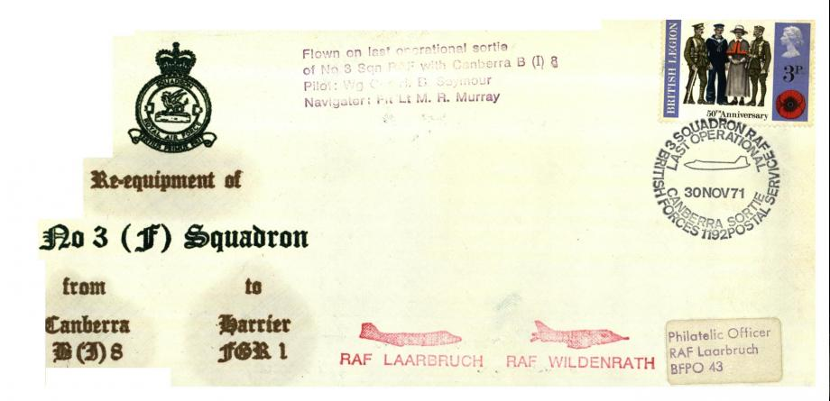 Re-equipment of 3 Squadron cover