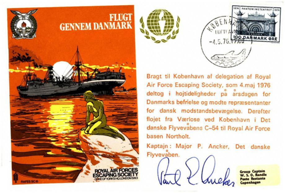 Flugt Gennem Danmark cover Sgd pilot Maj P Ancker