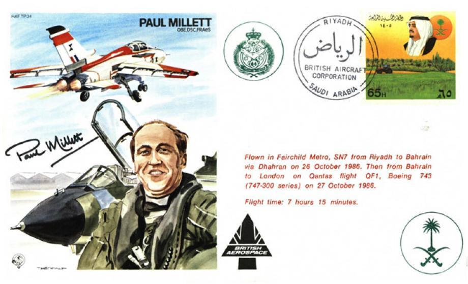 Paul Millett the Test Pilot cover Sgd Paul Millett