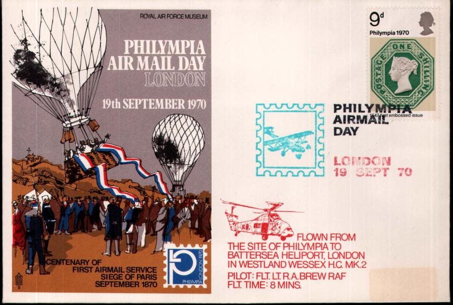 Philympia Air Mail Day cover