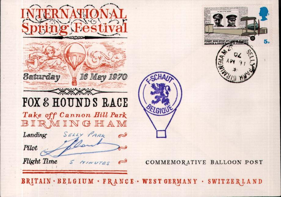 Fox and Hounds Balloon Race cover Sgd competitor