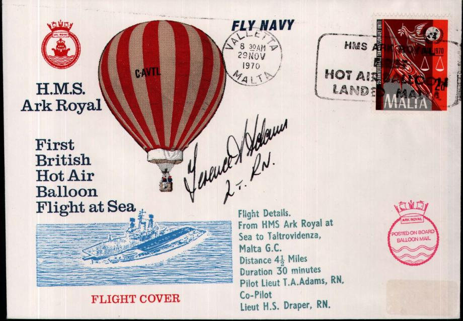 First Balloon Flight at Sea cover