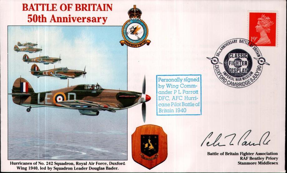 Battle of Britain 50th Anniversary Sgd P L Parrott a BoB Pilot