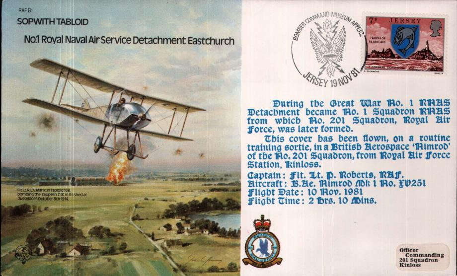 Sopwith Tabloid Bomber Command RNAS Detachment cover