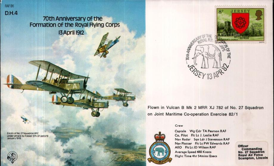 DH4 70th Anniversary of the Royal Flying Corps 13.4.1912