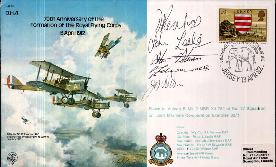 70th Anniversary of the Royal Flying Corps cover Crew signed