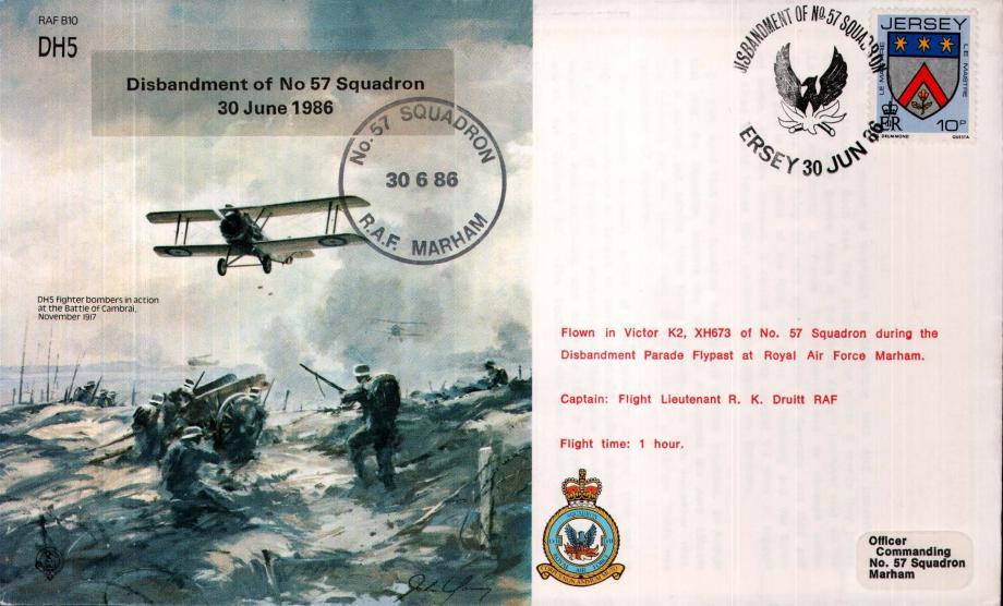 DH5 Disbandment of 57 Squadron cover