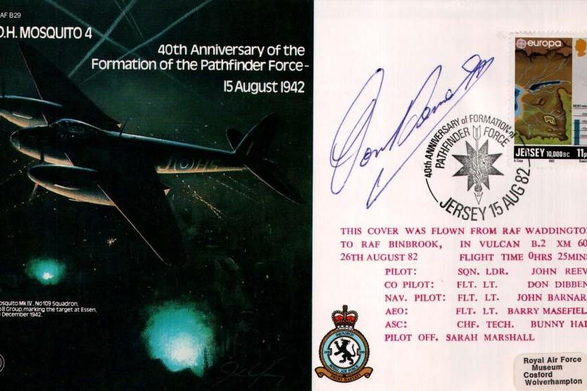 D.H Mosquito 4 cover Signed AVM D C T Bennett