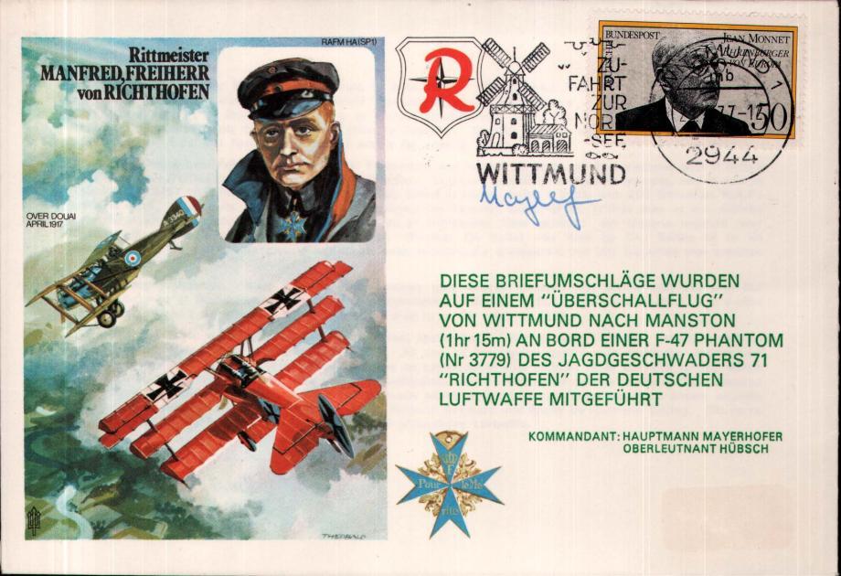Baron von Richthofen cover Sgd Mayerhofer
