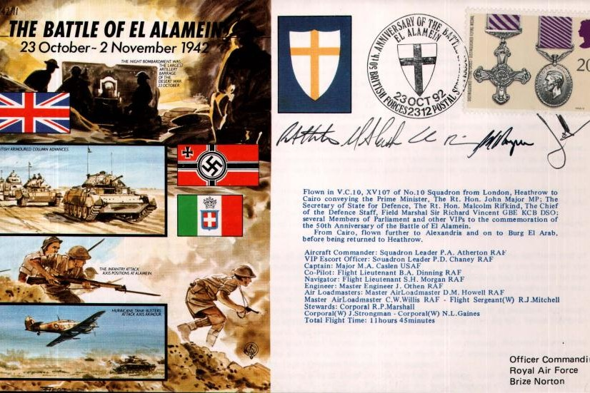 Battle Of El Alamein Cover Signed Crew
