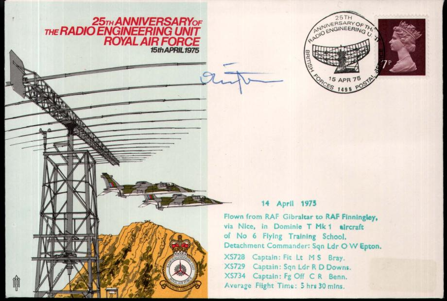 RAF Gibraltar cover Sgd Detachment Commander
