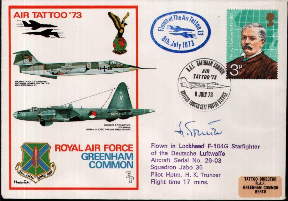 RAF Greenham Common cover Sgd pilot H K Trunzer