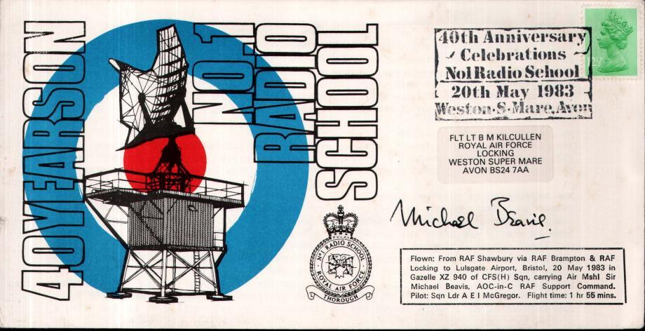 No1 Radio School cover Sgd Sir Michael Beavis