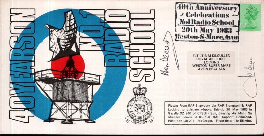 No1 Radio School cover Sgd K G Lewis and Nip O'Brien