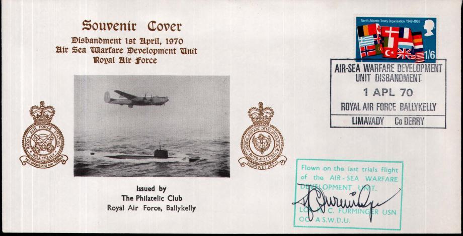 RAF Ballykelly cover Sgd H C Furminger USN