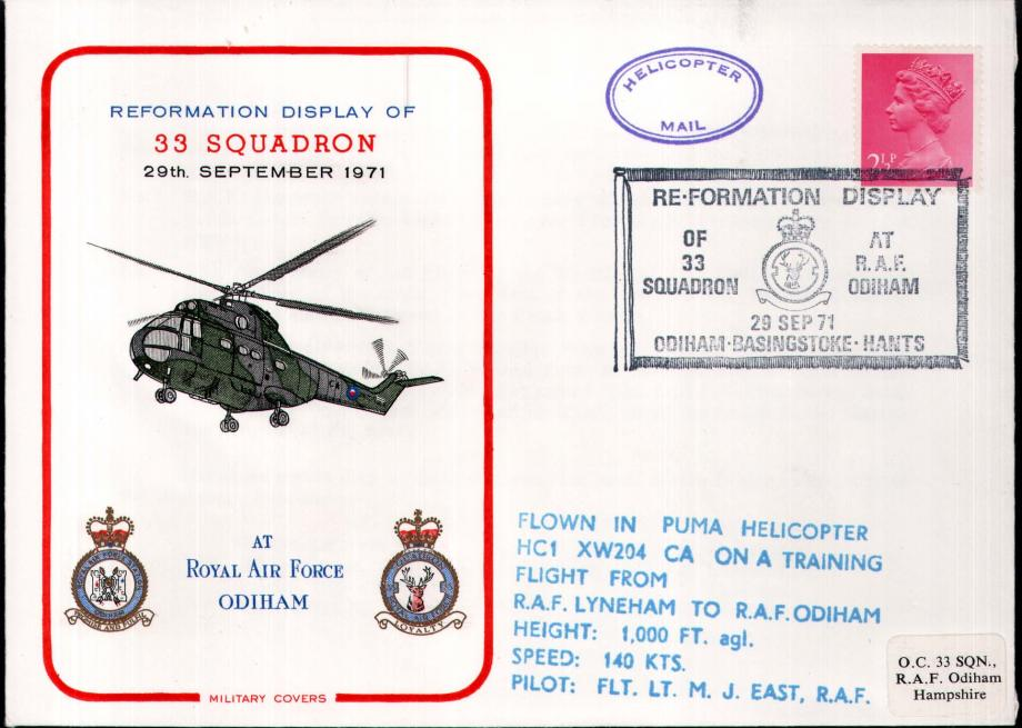 Reformation of 33 Squadron at RAF Odiham cover