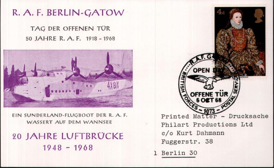 RAF Berlin-Gatow card