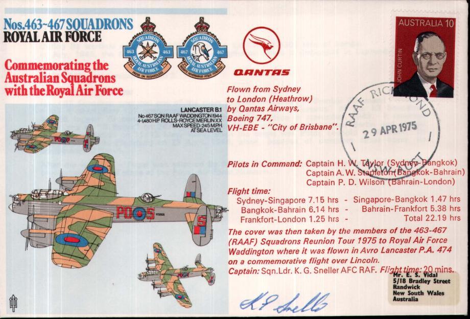 Nos 463 - 467 Squadrons cover