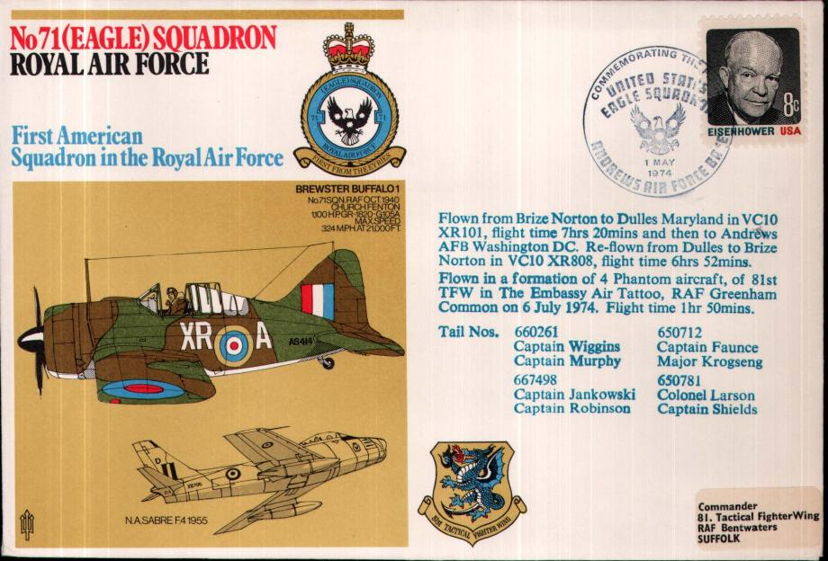 No 71(Eagle) Squadron cover