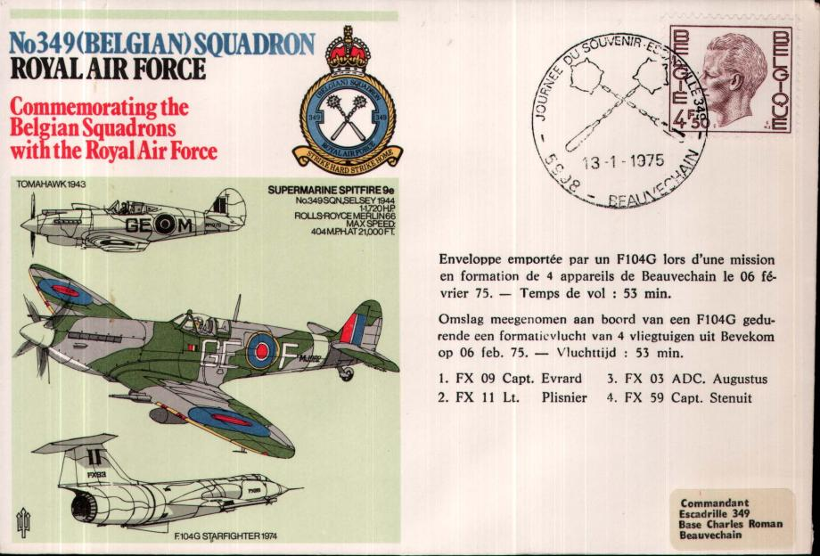 No 349 (Belgian) Squadron cover