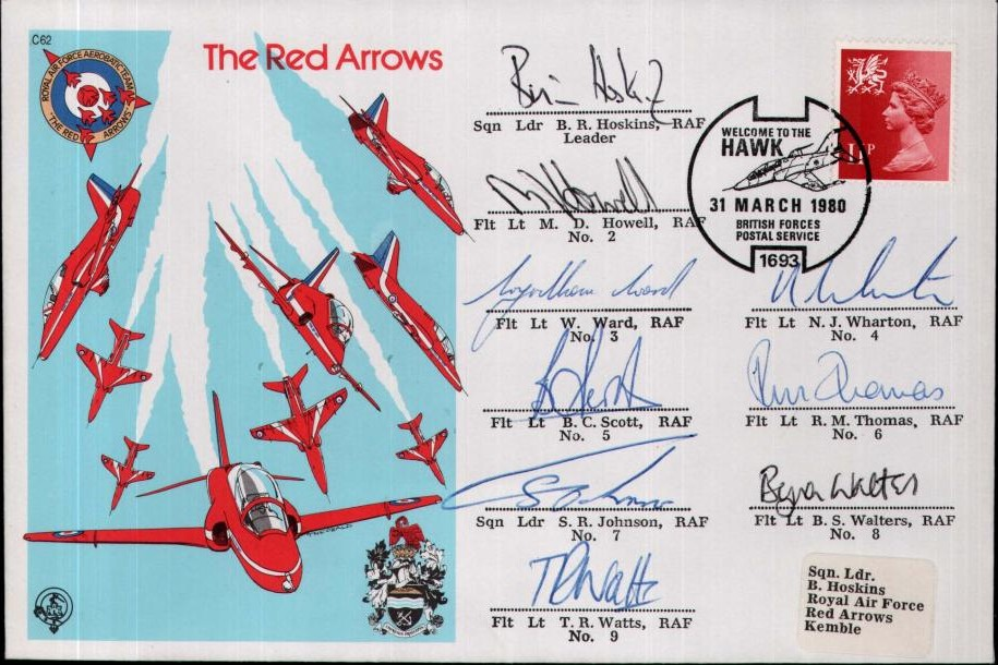 Red Arrows cover Sgd by all pilots