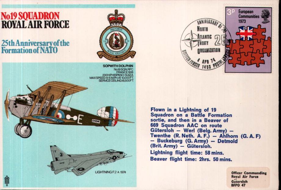 No 19 Squadron cover
