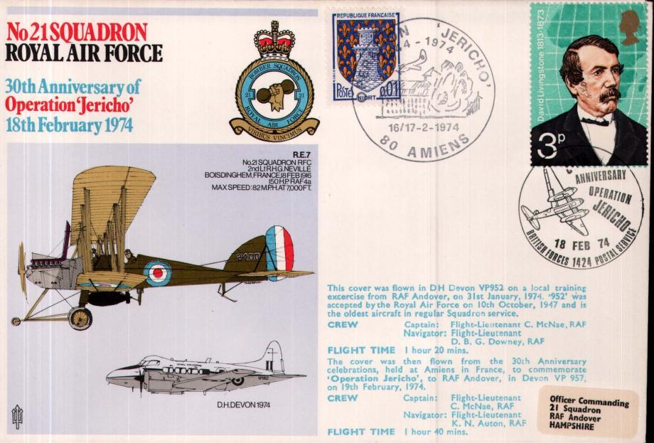 No 21 Squadron cover