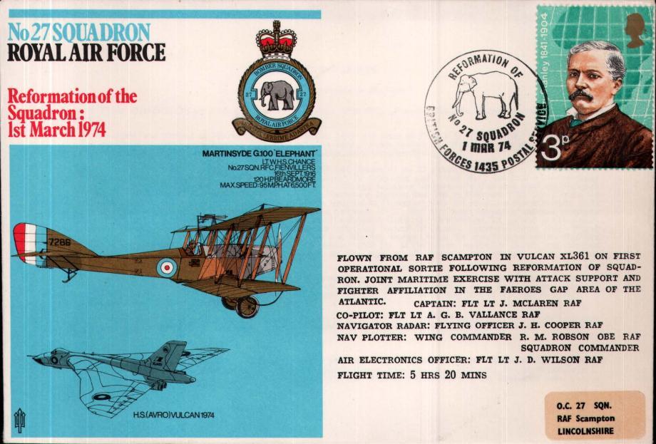 No 27 Squadron cover