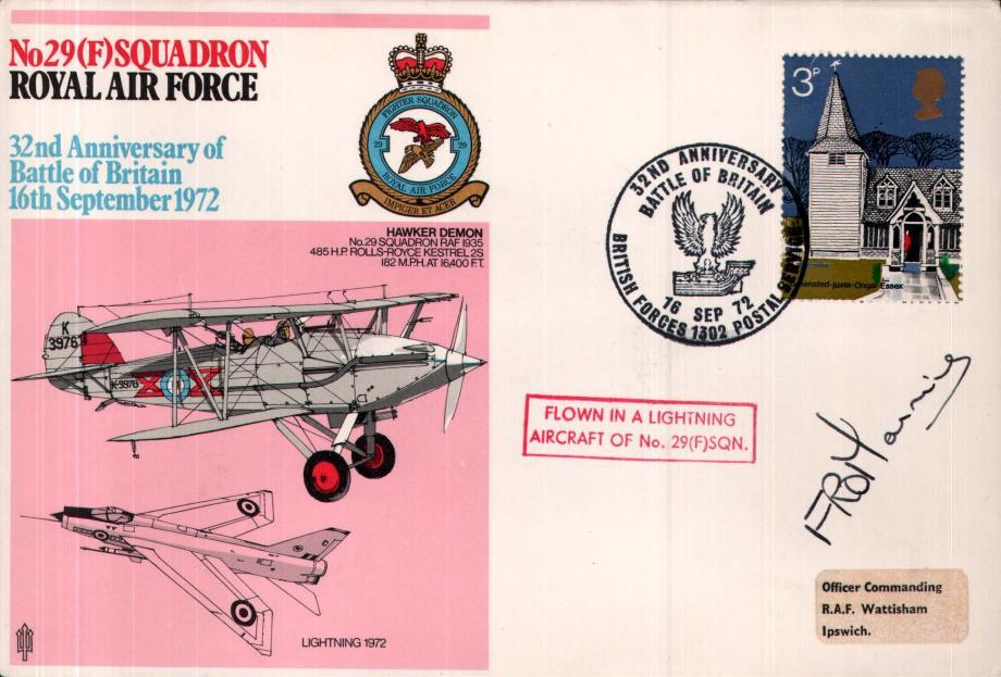29(F) Squadron cover Sgd pilot