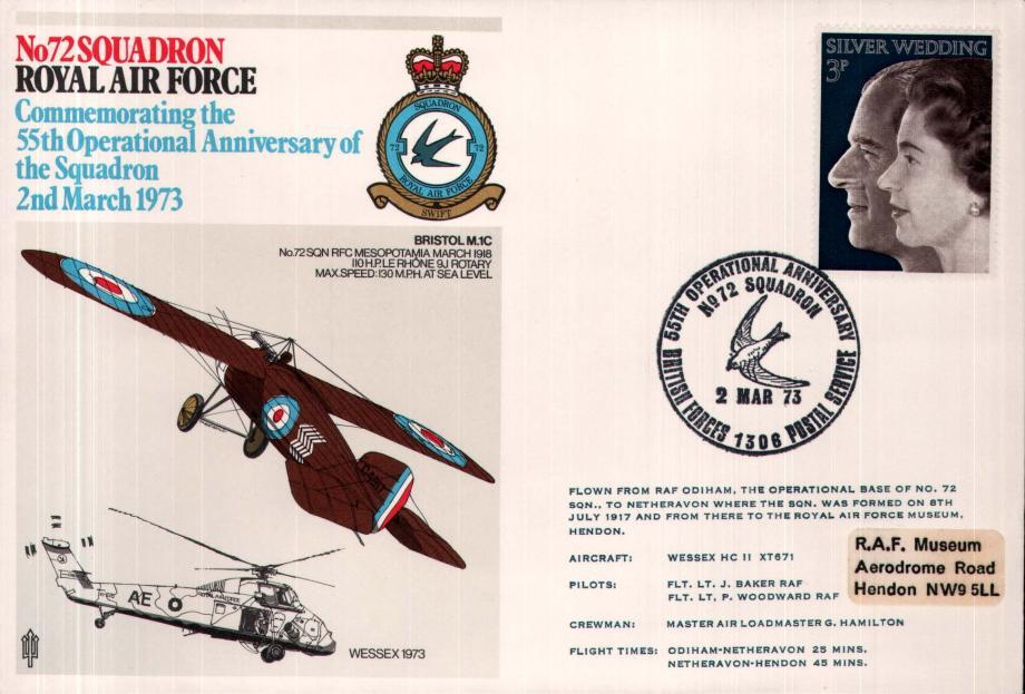 No 72 Squadron cover