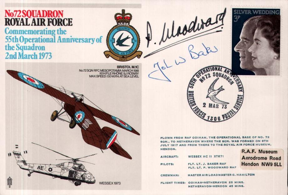 No 72 Squadron Sgd Pilots Fl Lt J Baker and Fl Lt P Woodward