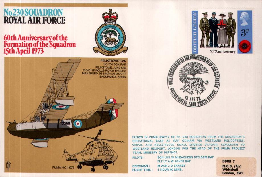 No 230 Squadron cover