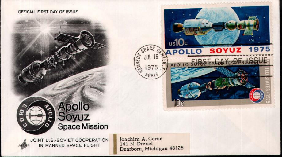 Apollo Soyuz Space Mission FDC 15 July 1975