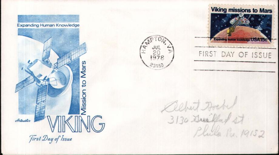 Viking Mission To Mars cover - 20th July 1978