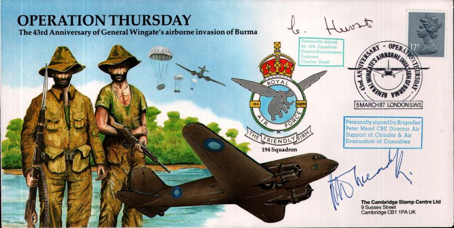 Operation Thursday cover Sgd C Hurst and Brig P Mead