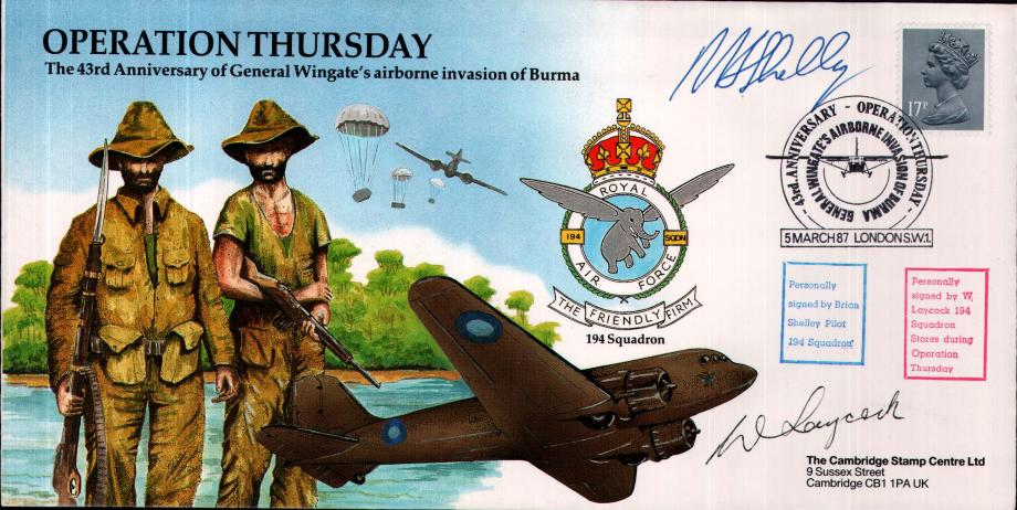 Operation Thursday cover Sgd B Shelley and W Laycock