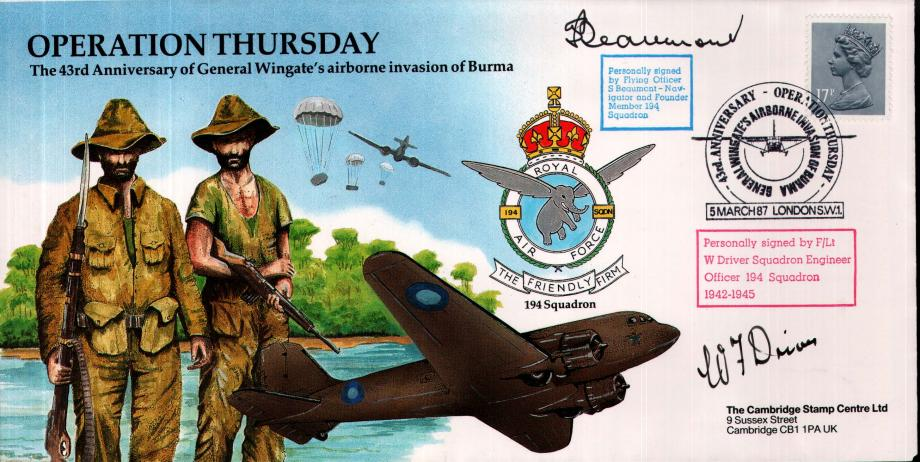 Operation Thursday cover Sgd S Beaumont and W Driver