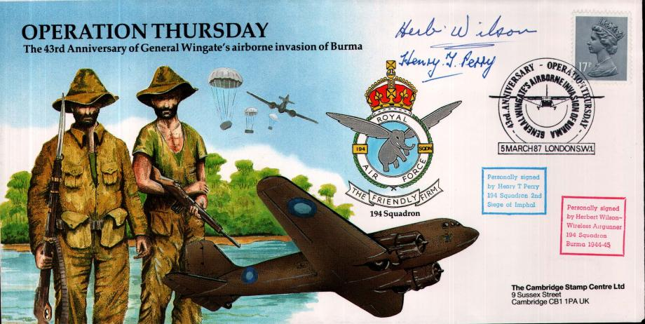 Operation Thursday cover Sgd H T Perry and H wilson