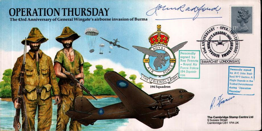 Operation Thursday cover Sgd R Francis and J Bradford