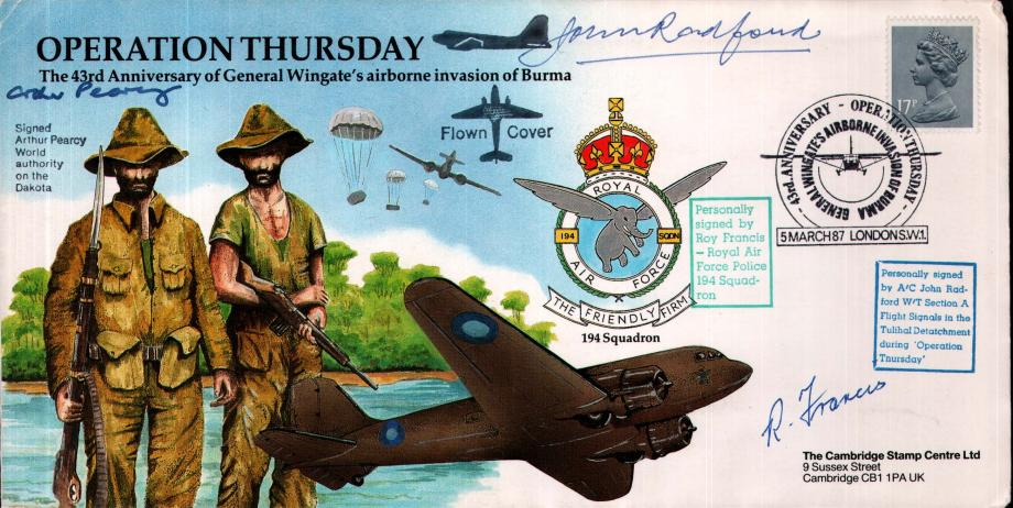 Operation Thursday cover Sgd R Francis J Radford and A Pearcy