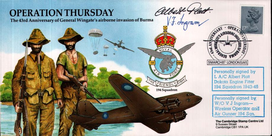 Operation Thursday cover Sgd A Platt and V J Ingram