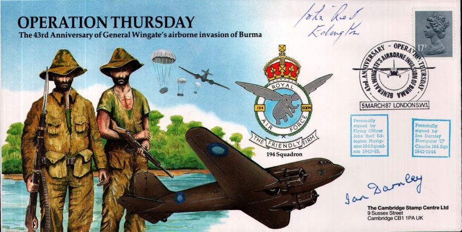 Operation Thursday cover Sgd J Edington and I Darnley